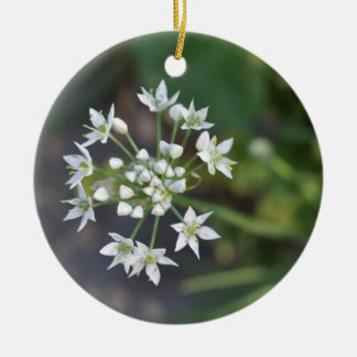White Flowers Delicate Floral Blossom Nature Photo Christmas Ornament
