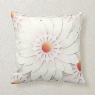 White flowers design cushion