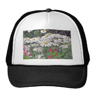 white flowers final trucker hats