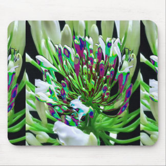 White Flowers Florals Green Bush Romance Gifts fun Mouse Pads