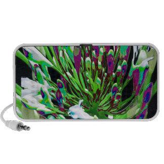 White Flowers Florals Green Bush Romance Gifts fun iPod Speaker
