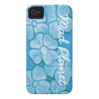 White Flowers Hand Painted on Ripped Fabric iPhone 4 Case