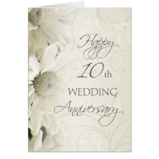 10th Wedding Anniversary Gift Ideas For Couple : 10th Wedding Anniversary Cards & Invitations Zazzle.co.uk