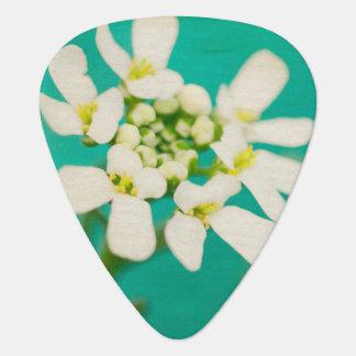 White Flowers III Guitar Pick