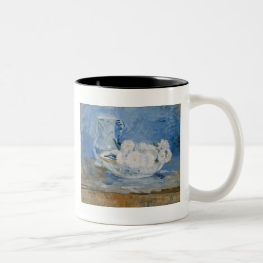 White Flowers in A Bowl Mugs