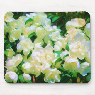 White Flowers Mousepad