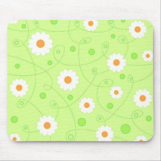 White flowers - Mousepad