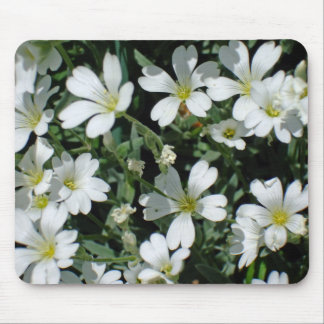 White Flowers on a Bright Day Mouse Pad