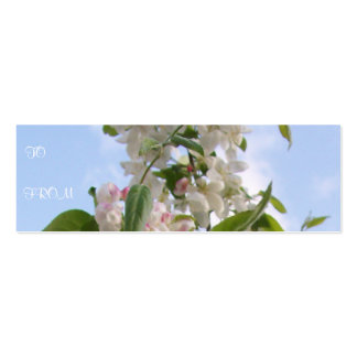 White Flowers Profile Card Pack Of Skinny Business Cards