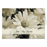 White Flowers Sister Thank You Maid of Honour Card