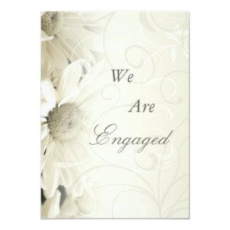 White Flowers Son Engagement Announcements