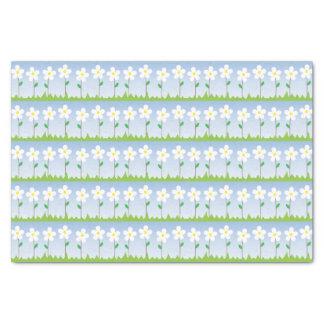 White Flowers Tissue Paper
