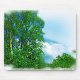 White Fluffy Cloud Cover in Kentucky Mouse Pad