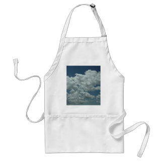 White, fluffy clouds in blue sky aprons