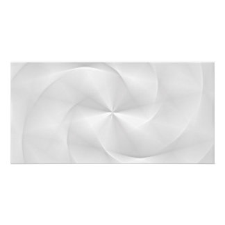 white folded swirl picture card