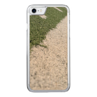 White Football Line Carved iPhone 8/7 Case
