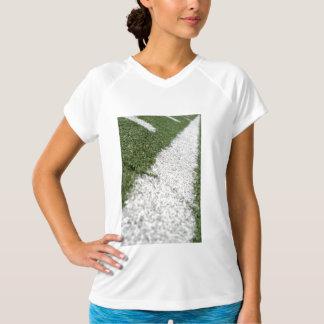 White Football Line T Shirts