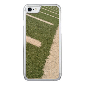 White Football Lines Carved iPhone 8/7 Case