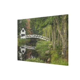 White footbridge Somesville Mount Desert Gallery Wrap Canvas