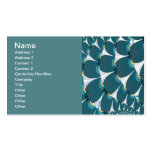 White Forest With Peacock Abstract Art Pack Of Standard Business Cards