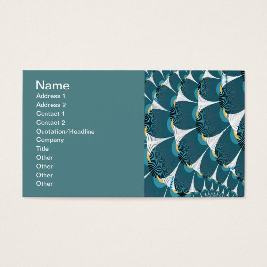 White Forest With Peacock Abstract Art Business Card