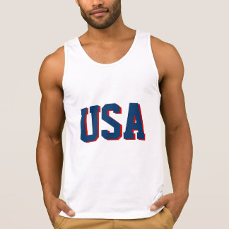 White fourth of July tank top shirt | USA apparel