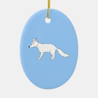 White Fox. Christmas Ornament