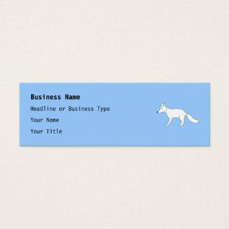 White Fox. Mini Business Card