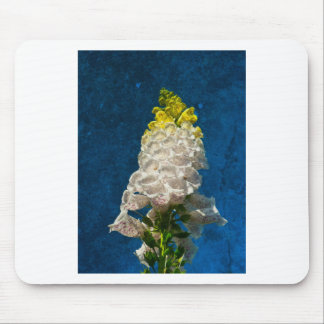 White Foxglove flowers on texture Mouse Pad
