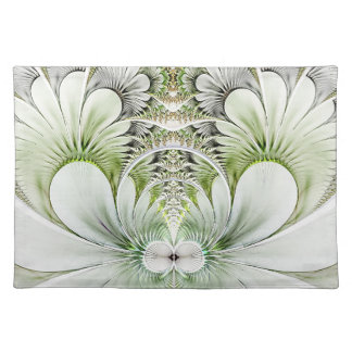 White Fractal Art Placemat