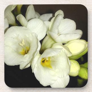 White Freesia Bouquet Coaster