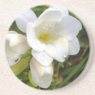 White Freesia Drink Coaster