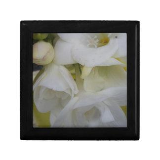 White freesia small square gift box