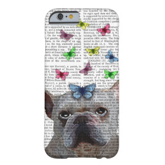 White French Bulldog and Butterflies Barely There iPhone 6 Case
