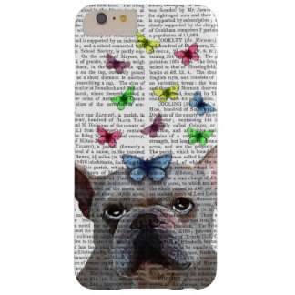 White French Bulldog and Butterflies Barely There iPhone 6 Plus Case