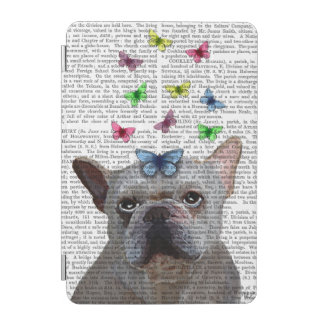 White French Bulldog and Butterflies iPad Mini Cover