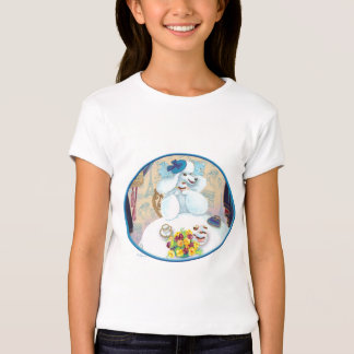 White French Poodle Tea Party T-Shirt