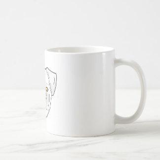 white fresco pug coffee mug