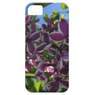 White fringed purple lilac iPhone 5 cover