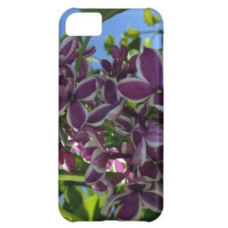 White fringed purple lilac iPhone 5C case