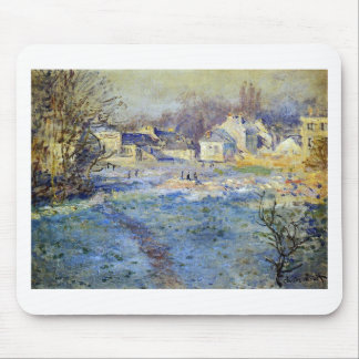 White Frost by Claude Monet Mouse Pad
