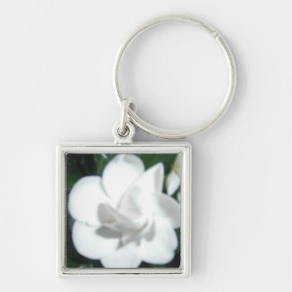 White Gardenia products Silver-Colored Square Key Ring