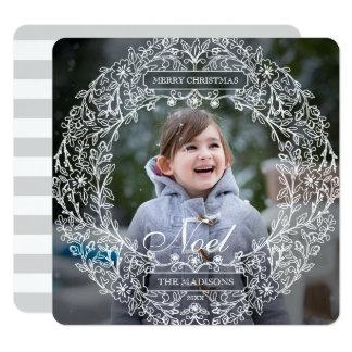White Garland Card