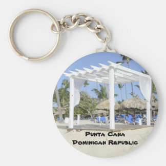 white gazebo on the beach key ring