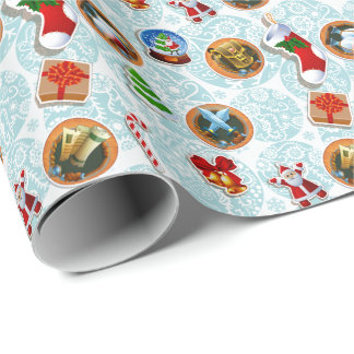 White Geek Christmas Wrapping Paper