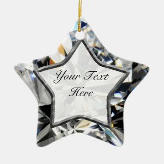 White Gem Star Christmas Ornament