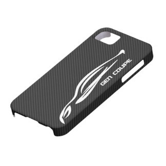 White GEN COUPE Logo iPhone 5 Cover