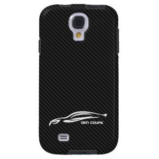 White Genesis coupe Silhouette Logo Galaxy S4 Case