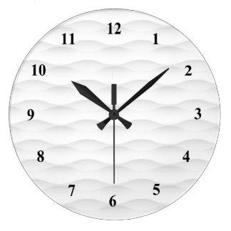 White Geometric Shadowed Background Large Clock