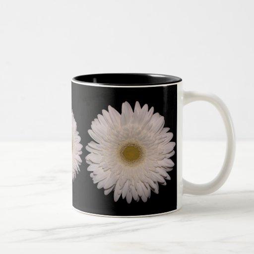 White Gerber Daisy Mug
